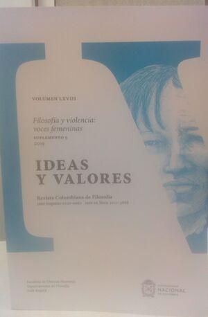 IDEAS Y VALORES SUPLEMENTO 5 VOLUMEN LXVIII