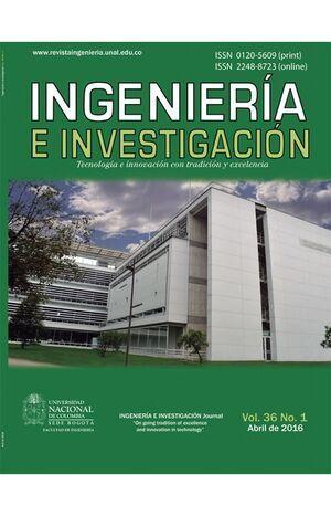 Revista ingeniería e investigación Vol. 36 No. 1 de 2016