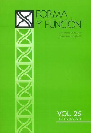 FORMA Y FUNCION VOL. 25 NO. 1