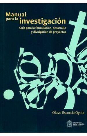 Manual para la investigación. (3ra Reimpresión)