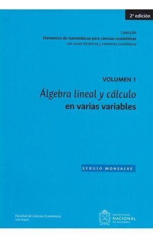Álgebra lineal y calculo en varias variables