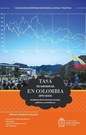 Tasa de ganancia en Colombia 1970-2000